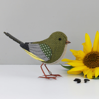 Fabric Bird Sculpture - Greenfinch - Made to Order