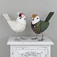 Wedding Birds- Cake Toppers - Made to Order