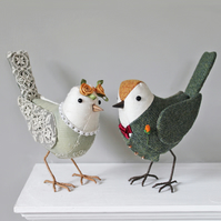 Wedding Birds - Cake Toppers - Made to Order