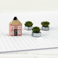 Miniature Pencil House, Handmade Pencil House, Housewarming Gift, Wooden House,