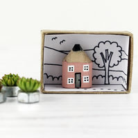 Miniature Wooden House, Choice of Colours