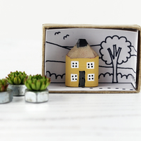 Handmade Wooden House, Pencil Cottage, Housewarming Gift, New Home Gift in Box