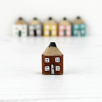 Handmade Pencil House, Miniature Wooden House, Housewarming Gift, New Home Gift