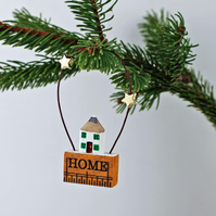 Miniature House Christmas Tree Decoration
