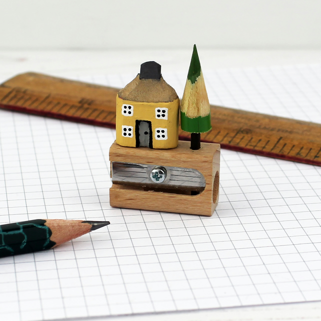 Pencil House on Pencil Sharpener, Housewarming Gift