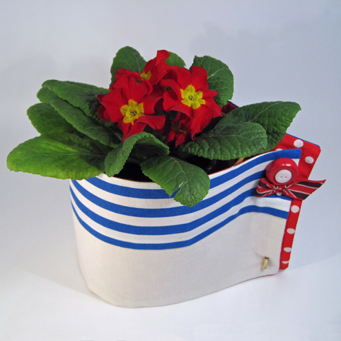 Union Jack flower pot wrap
