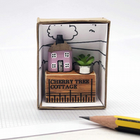 Personalised Miniature Pencil House on Ruler, House Name or Number