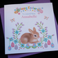 Handmade Personalised Easter Bunny Card