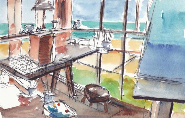 Giclee Art Print - Studio by the Sea