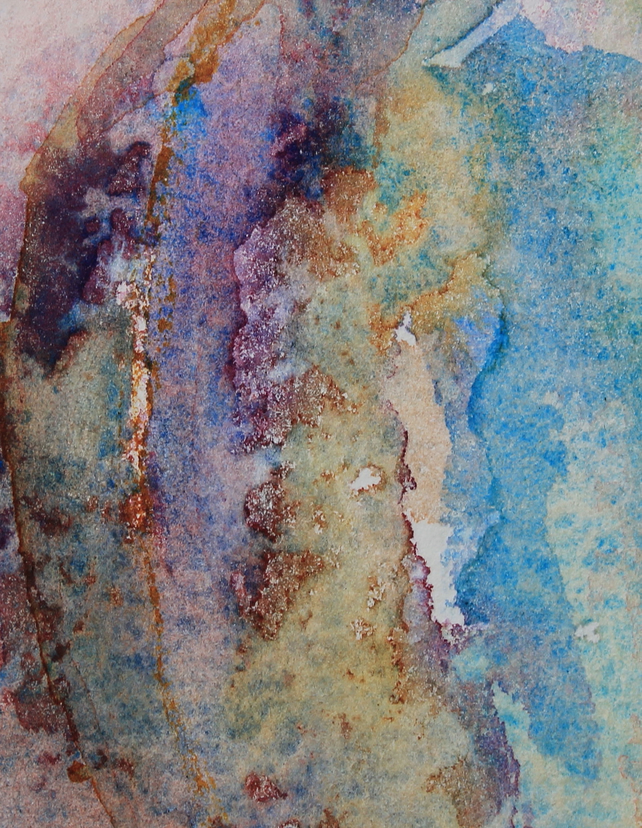 Greetings Card - Textures and colour  in Watercolour