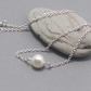 Single Cream Pearl on Sterling Silver Chain Simple Modern Necklace