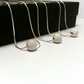 Set of 3 Sterling Silver Stardust Necklace. Frosted Silver Bridesmaid Gift