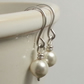Classic Pearl Earrings. Simple Cream Pearl Drop Earrings. Bridal Jewellery