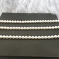 Bridesmaids Gift Set of 3 Classic Cream Pearl Necklace. Bridesmaid Necklace