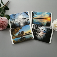 Set of 4 Lake View Notecards