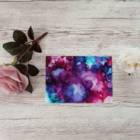 Alcohol Ink Greeting Card