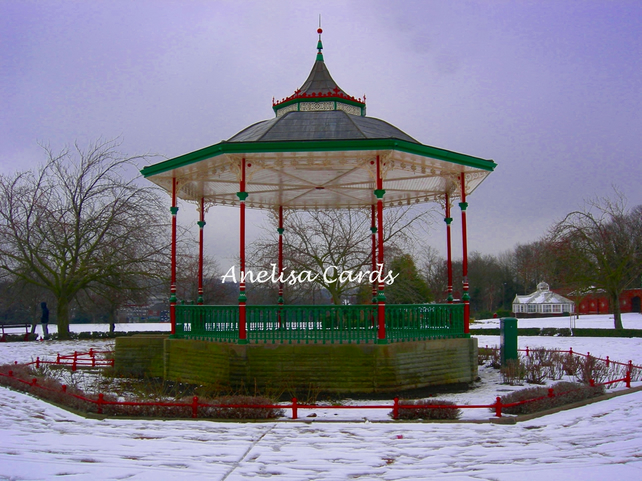 Victorian Bandstand in the Snow