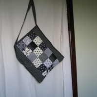 Black and white book bag