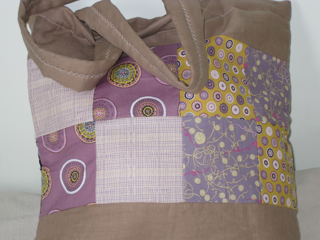 Retro and linen shopping bag