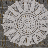 Tweed and lace cushion cover