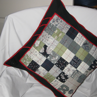 Black and red cushion cover.
