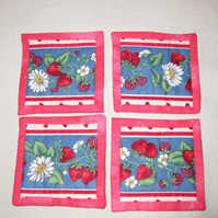 Summer fruits coasters