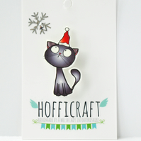 Christmas Kitty Brooch