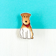 Hector the Fox Terrier Dog Brooch!