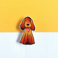 Chester the Cocker Spaniel Brooch