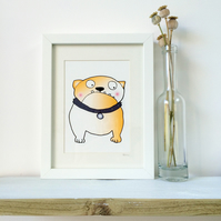 Blushing British Bulldog Framed Print