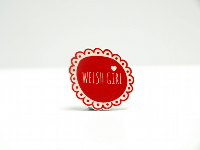 Welsh Girl Brooch