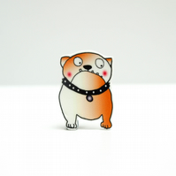 Blushing British Bulldog Brooch