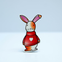 Gatsby the Rabbit Brooch
