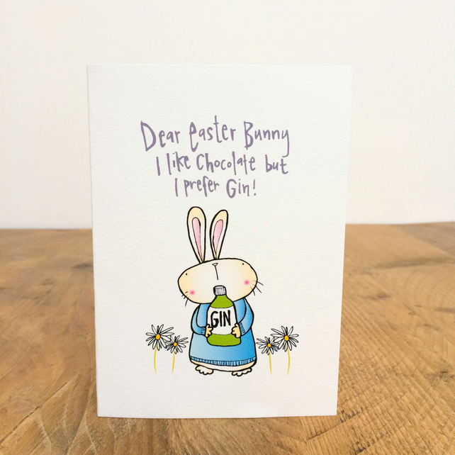 I like chocolate but I prefer Gin Easter Card