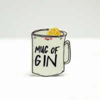 Mug of Gin Brooch