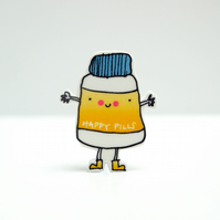 Happy Pills Brooch