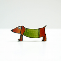 Silvester the Sausage dog brooch