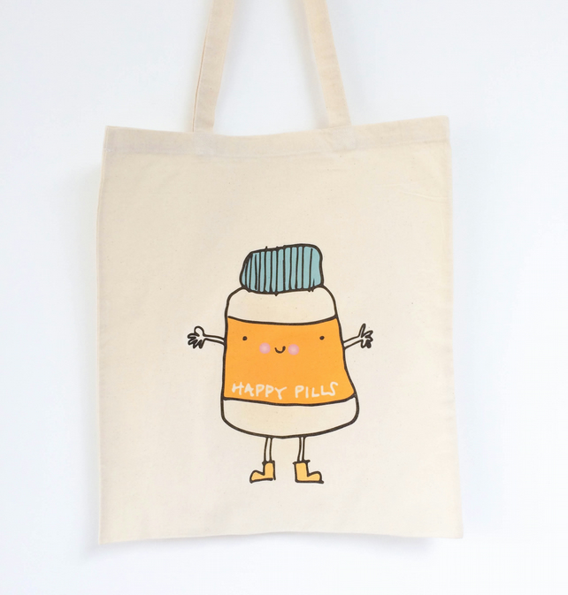 Happy Pills Canvas Bag