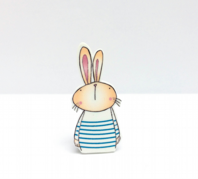 Breton Easter Bunny Pin badge
