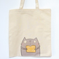 Custard Cream Biscuit Kitty, Canvas Bag