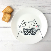 Custard Cream Kitty, Biscuit Plate