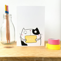 Nice Biscuit Cat Card