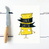 Lover of Cheese Print