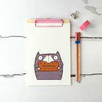 Bourbon Biscuit Kitty,  Illustrated print