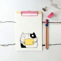Nice Biscuit Kitty Illustrated Print