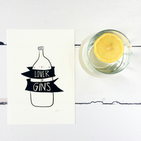 Lover of Gins Print