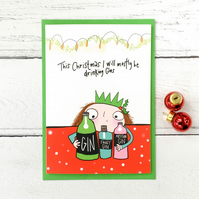 Drinking Gins Christmas card!