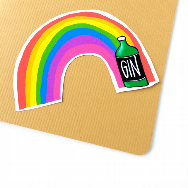 Rainbow Gin Sticker