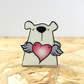Happy Heart Flutters Valentine's Bear Badge