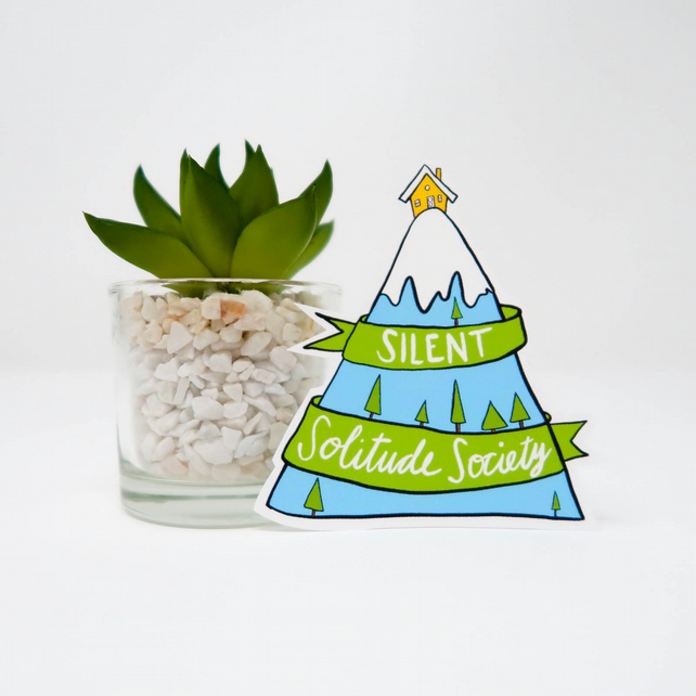 Silent Solitude Society Sticker
